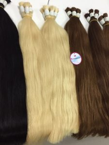 DOUBLE HAIR, BULK HAIR STRAIGHT, 24 INCHES, COLOR 1B -60- 8-4-10