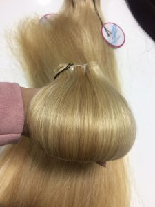 Double drawn machine weft piano hair