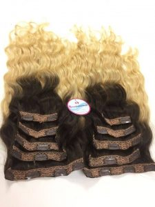 Clip in vietnam hair ombre color #1/#60