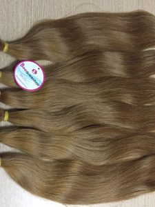 HAND TIED WEFT HAIR STRAIGHT 16 INCHES, COLOR 12