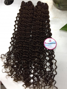 VIETNAMESE REMY HAIR BROWN CURLY WEFT