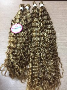 VIETNAMESE REMY HAIR CURLY PIANO MIX BULK