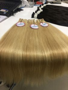 HUMAN HAIR MACHINE WEFT STRAIGHT MIX #18 AND 60