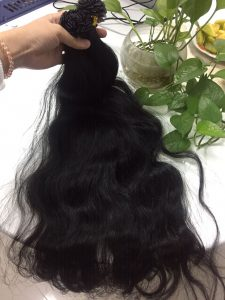 VIETNAM HAIR FLAT TIP #1B NATURAL WAVY 24''