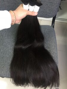 VIRGIN HAIR BULK STRAIGHT #1B 24 INCHES