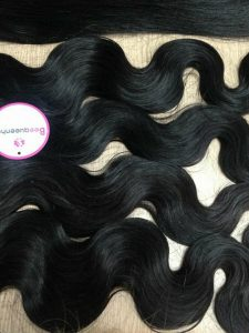 VIRGIN HAIR WEFT – WATER BODY WAVY 22 INCHES BLACK 1b
