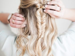 With hair extensions you will have beauty fishtail