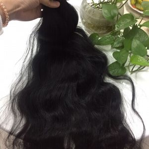 Vietnam Hair Flat Tip #1b Natural Wavy 24 1