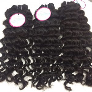 Vietnam Hair Machine Weft #1b Deep Wavy 16