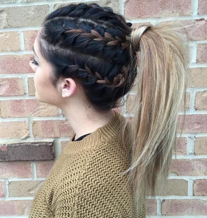 4 Braids And A Ponytail