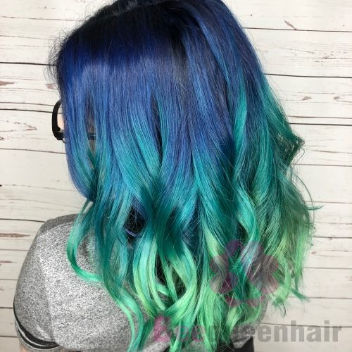 Blue To Green Ombre