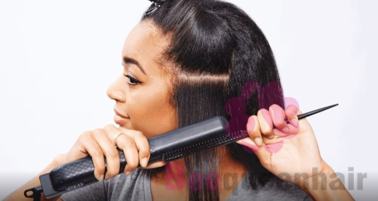 Flat iron is also necessary for making shiny hair