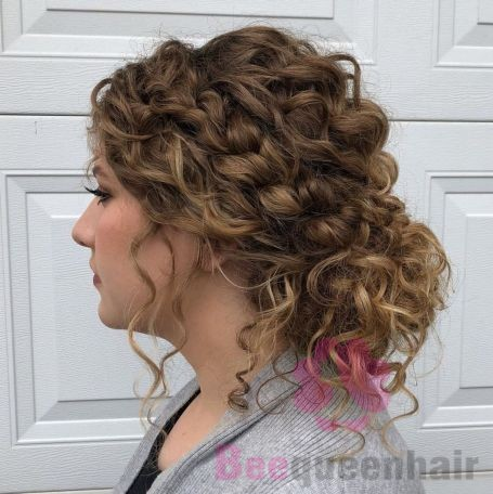 Low Bun With Loose Curls