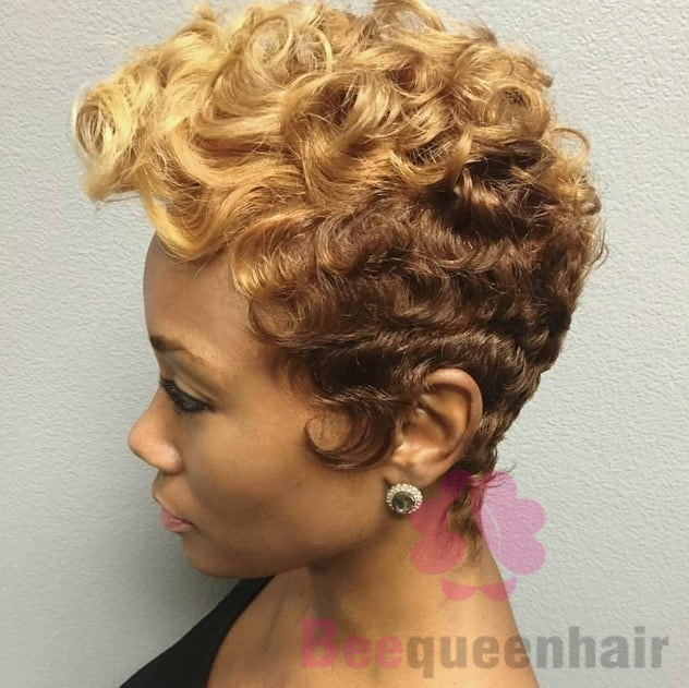 Permed Short Hair for Black Women