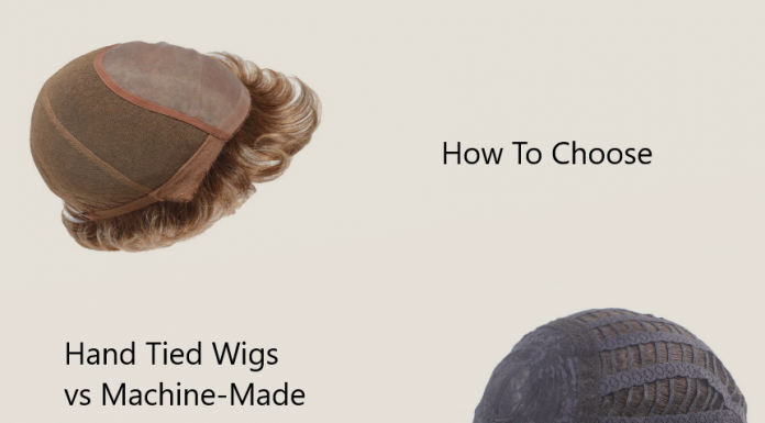 Hand tied wigs and machine-made wigs