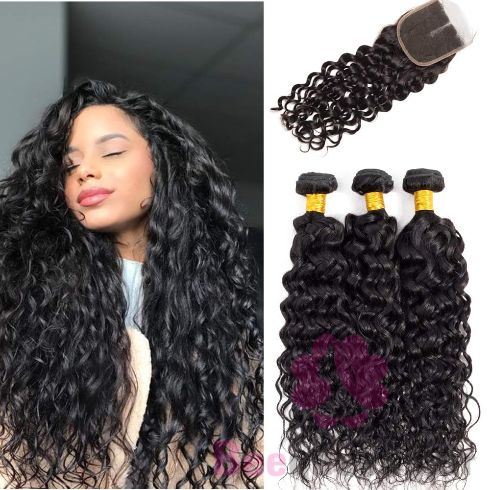 Use Curly Hair Bundles With Closure For Full Covered Installation