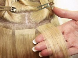 Attach the thin portion of the hair to the bottom