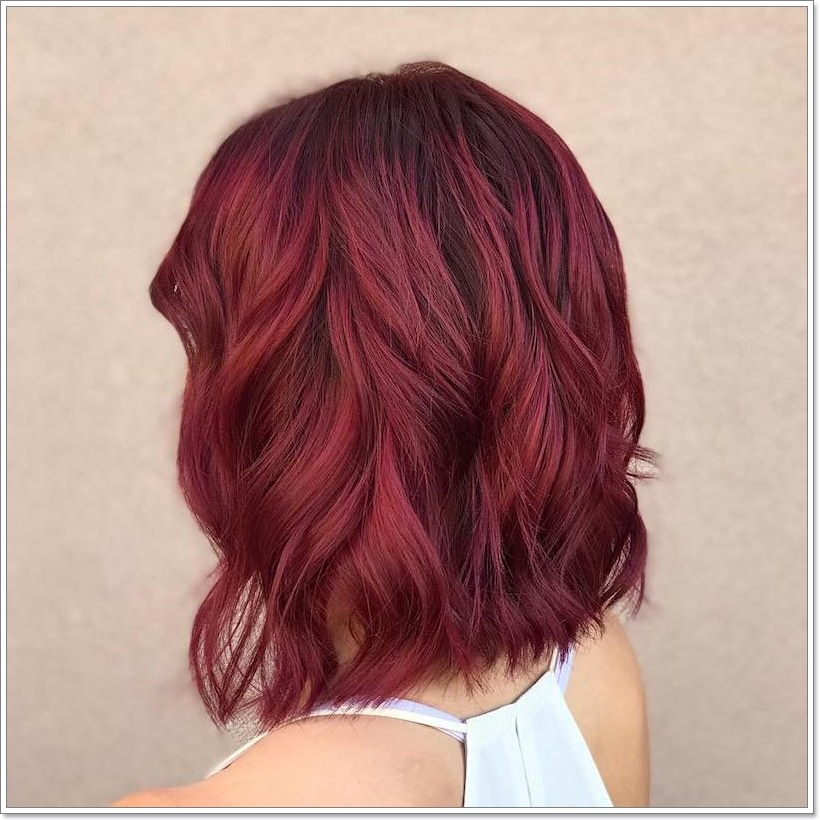 Burgundy Short Perm