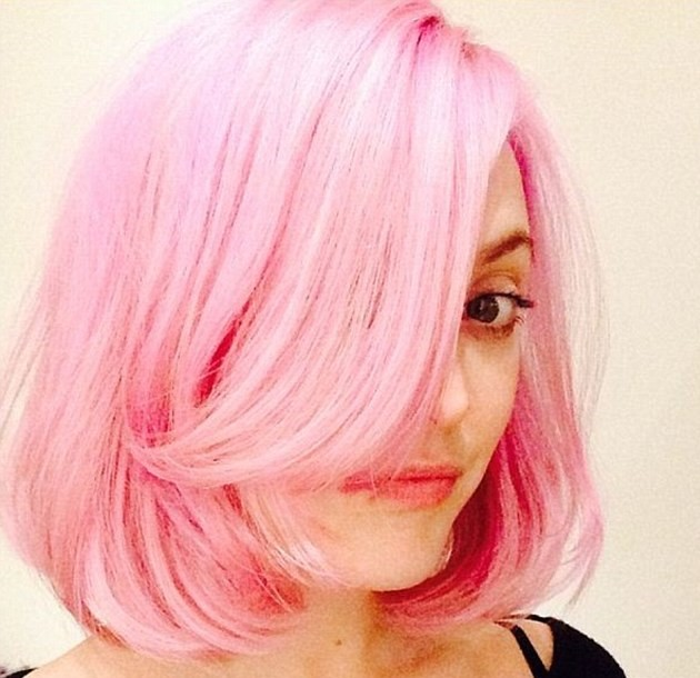 Deep Side Part Pink Bob (2)