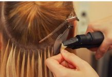 Glued Hair Extensions