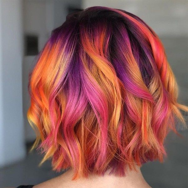 Flattering Sunset Hair Ideas