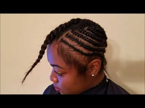 How To Do Middle Part Sew In With Leave Out