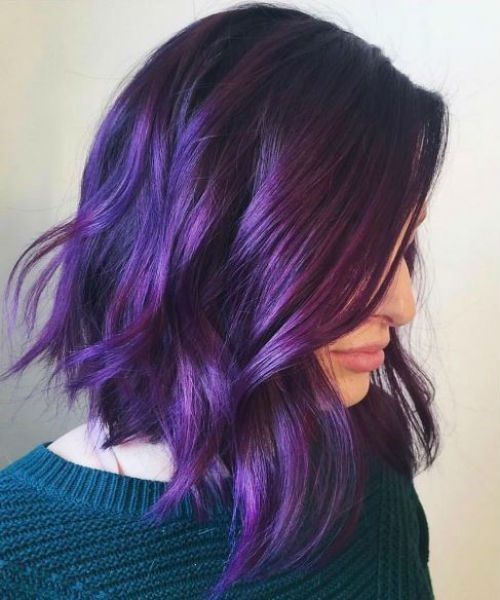 Impressive Purple Sunset Hair