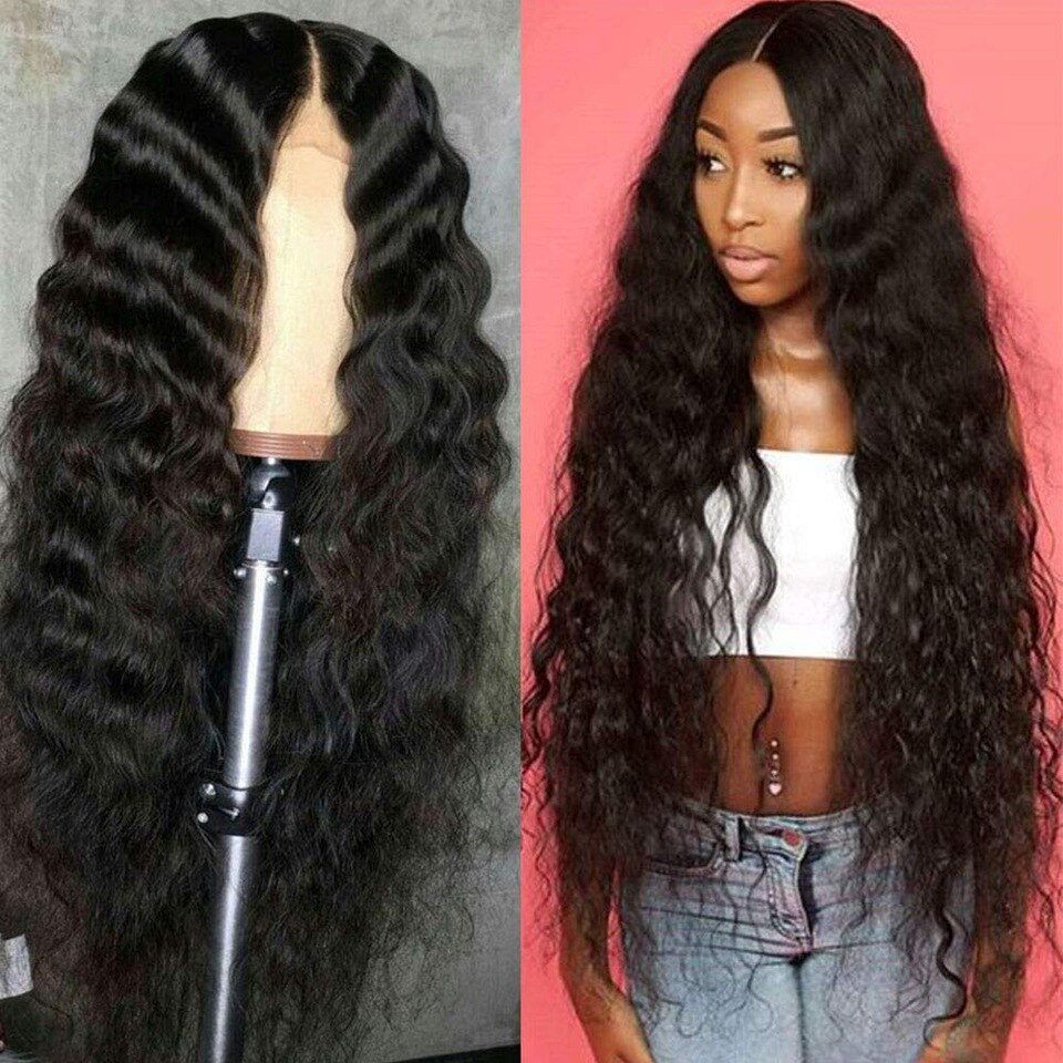 Wavy Middle Part Sew In