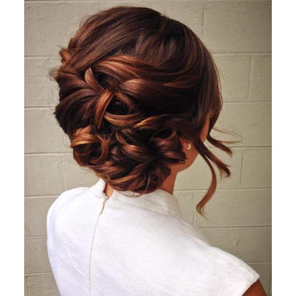 Updo With A Rising Braid