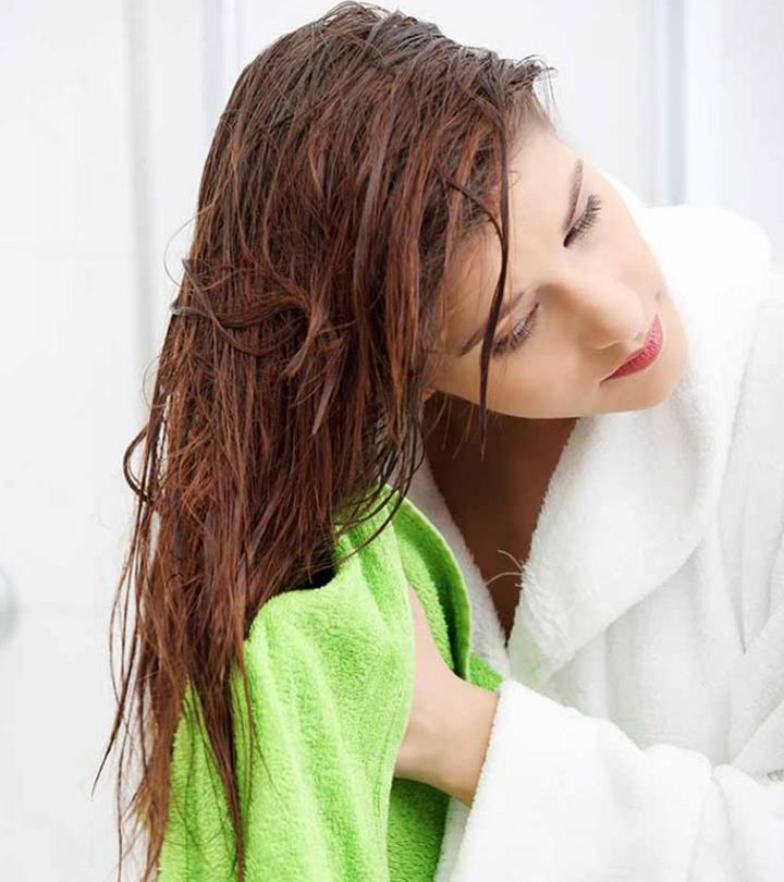 Use A Clean Towel To Dry The Hair
