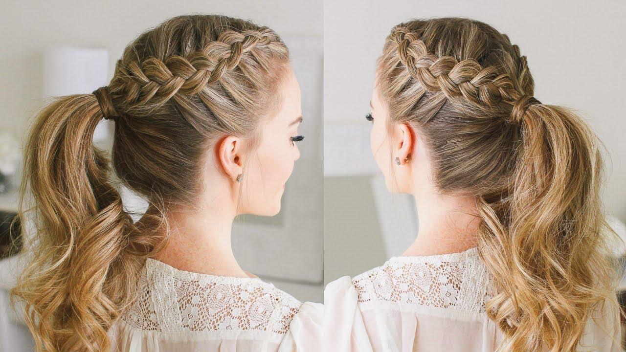 Wrap Braids To A Ponytail
